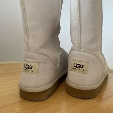 Cream Classics Tall UGG BOOTS, SIZE 6.5 UK