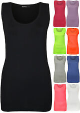 Cotton Scoop Neck Sleeveless Tops & Shirts for Women