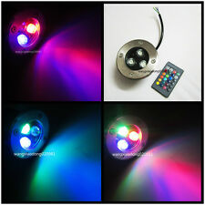 12V 3W RGB LED Bulb In ground Spot Light Outdoor Garden IP67 & IR Remote Control