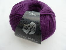 NEW : Cool Wool Fine 50g Lana Grossa Merino Wool Color Colour 05 Blackberry