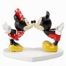 Official Disney Minnie + Mickey Mouse Kissing Figurine Ornament Cute Boxed Gift