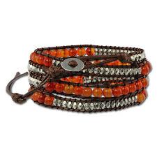 Modeschmuck-Armbänder aus Leder mit Perlen (Imitation) für Damen