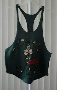 Gold's Gym String Tank Top Printed Camo Green Size Large