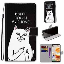 For Nokia C2 LG Velvet K61 Alcatel 1 SE Flip Magnetic Leather Wallet Case Cover