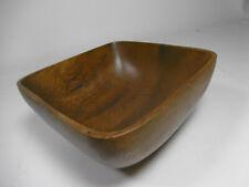 Schale Teak Holz Vintage Braun Dekoschale 60er Jahre Anbietschale Obstschale