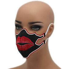 💋KUSSMUND Emoji ☆60° waschbar Mehrweg Schutzmaske☆ Damen Mundschutz ✔ Maske