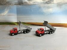 Ho Scale 1/87 Two Boley GMC Doule Axle Dump Trucks