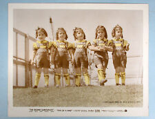 1938 Dionne Quintuplets Five of a Kind Original Tinted Movie Photo NEA Service