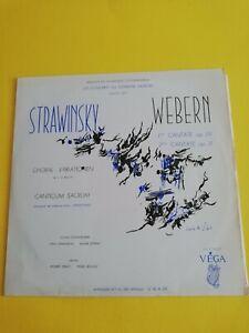 VEGA - STRAWINSKY CHORAL VARIATIONEN - WEBERN 2 CANTATAS - CRAFT / BOULEZ/R19