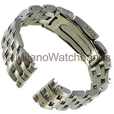 20mm Hadley Roma Stainless Straight End Fold Over Clasp Watch Band MB4436 W SE20