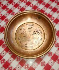 Vintage heavy copper colander sieve steamer strainer