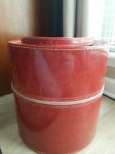 Vintage Carry All Large Hat Box Travel Wig Case Large Deep Red 13 inches
