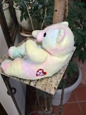 "Ty Baby ""Bearbaby"" Bear Pillow Pal With Rattle With Tags Very Rare Lovey Plush"