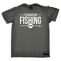 Fishing T-Shirt Funny Novelty Mens tee TShirt - Id Rather Be Fishing