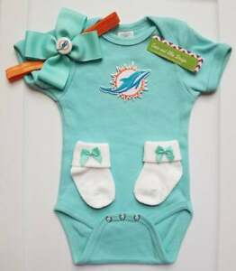 Dolphins newborn/baby girl Dolphins baby gift girl Miami football baby girl