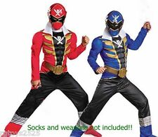Power Rangers Super Megaforce 7 8 M Red Blue Reversible Muscle Costume NEW child