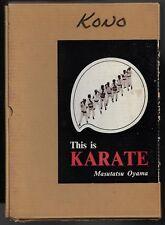 This is Karate by Masutatsu Oyama, 1st Edition 1965, 5th Printing 1966-HCDJ