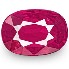 0.99-Carat IGI-Certified Unheated Oval-Cut Rich Pinkish Red Ruby from Mozambique