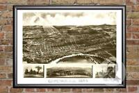 Vintage Concord, NH Map 1899 - Historic New Hampshire Art - Victorian Industrial