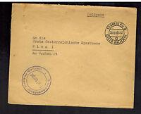 1943 Stanislau Poland Germany Cover Waffen SS Feldpost Special Train Sonderzug
