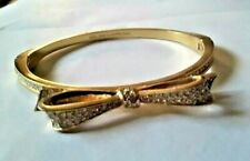 """Kate Spade New York bracelet """"LOVE NOTES SPARKLE Gold CRYSTAL BOW +TAG ICONIC <3"""