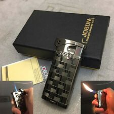 Dual Style Flame Torch & Standard Butane Cigar Cigarette Lighter Black with Box