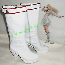 Tekken 6 Lili White Halloween Long Cosplay Shoes Boots H016