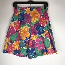 Vintage Honors High Waist Mom Shorts Womens Size Small Floral Multicolor