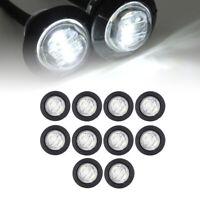 """10Pcs White 3/4"""" Bullet Clearance Side Marker Truck RV Van Trailer LED Lights US"""