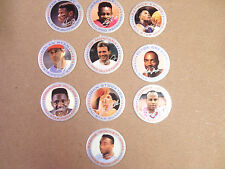 SPORTS POGS BY SIGNATURE CAPS GRIFFEY JR., MONTANA, EWING, RICE SET OF ALL (10)