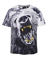 Wild Grizzly Bear T-Shirt (all over graphic animal t shirt)