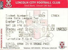Ticket - Lincoln City v Exeter City 18.04.2009