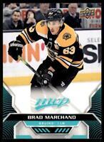 2020-21 UD MVP Base SP #213 Brad Marchand - Boston Bruins