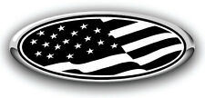 Ford F250/F350 2011+ 3PC Kit Patriotic American Flag Overlay Decals BLK NO CAM