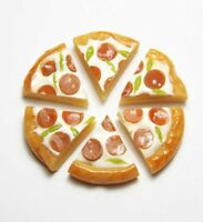 Set of 6 Dollhouse Miniature Pepperoni Pizza Slices * Doll Mini Tiny Food Bakery