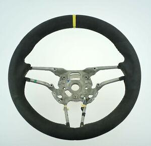 OEM Porsche 991 MACAN Cayenne 958 ALCANTARA Heated Steering Wheel yellow stripe