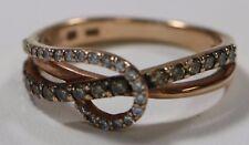Ladies LeVian 14 Kt Rose Gold White & Chocolate Diamond .50 CTW Swirl Ring