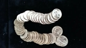 1943-S JEFFERSON NICKEL ROLL - 40 NICE UNCIRCULATED NICKELS   MBDRX6
