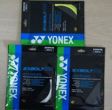 5 Packs of YONEX EXBOLT 63 String, BGXB 63 Badminton String 10 m, Many Colours