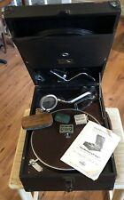 More details for antique hmv gramophone model 101l        wind up portable 78rpm no.4 soundbox