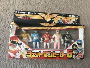 Choujin Sentai Jetman Hero 5 Vinyl Sofubi Set VINTAGE Bandai Japan Power Rangers