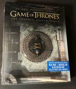 Game of Thrones The Complete 8th Season [ STEELBOOK Edition ] (Blu-ray) NEW