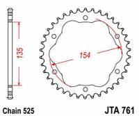 A76138: JT SPROCKETS Corona JT 761 de aluminio con 38 dientes
