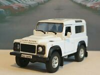 """PERSONALISED LAND ROVER DEFENDER SWB 4"""" DIECAST MODEL CAR BIRTHDAY GIFT DAD NEW"""