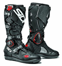 Motorcycle SIDI Crossfire 2 SRS BOOTS - Black UK SELLER 2000000427386 Eu43