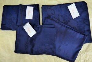 Pratesi midnight blue VINE duvet cover sheet pillow case SET angel skin cotton