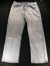 Lee DUNGAREES Relaxed Boot Cut Men's Jeans 34 x 30 MEASURED, DESTROYED; PATCHES