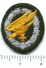 WWII German Paratrooper Jump Badge Iron Cross Bottle Green Wool Patch No Border