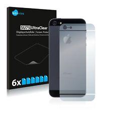 6x Film Protection écran Apple iPhone 5 Le dos (tutt la surface) Protecteur