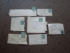 FRANCE - 7 fragments (timbre yvert et tellier n° 75 tout etat) (Z3) french